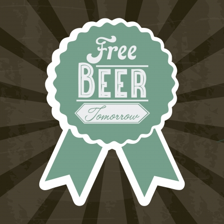 imperfections: free beer tomorrow illustration, vintage style illustration Illustration