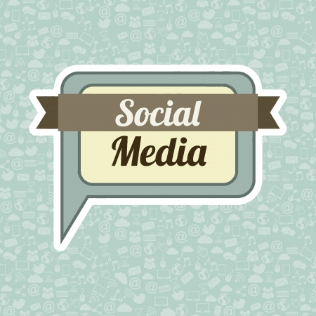 blue network: social media vintage over blue background illustration Illustration