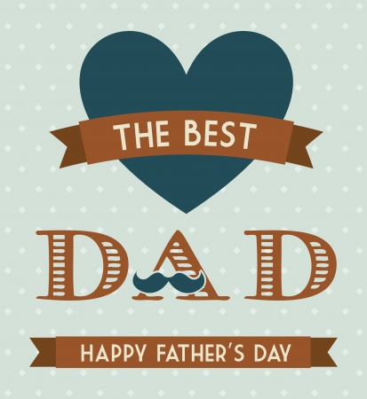 fathers  day: fathers day card, retro style illustration Illustration