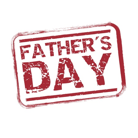 fathers day seal over white background illustration Vector