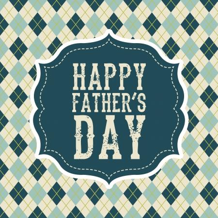day of father: padri carta di giorno, stile retr? illustrazione