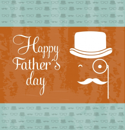 fathers day card, retro style illustration Stock Vector - 19307424