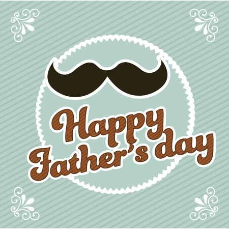 fathers day card, retro style illustration Vector