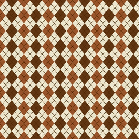 rhombus pattern over beige background illustration Vector