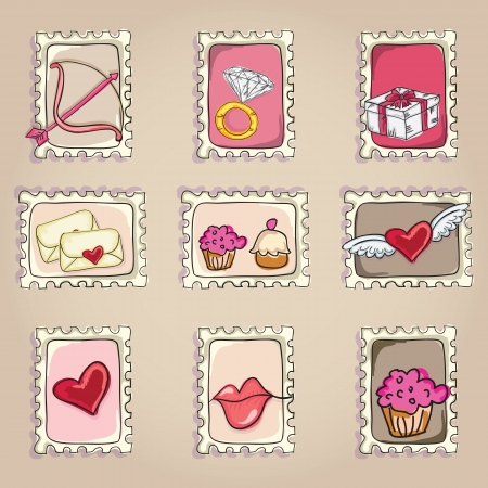 cakestand: Cake  & Cupcakes icons ( concepts, labels, & cards) Illustration