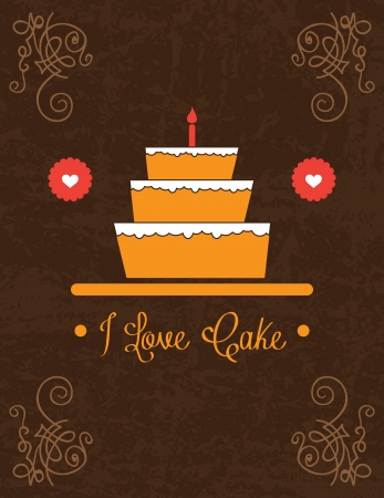 Cake  & Cupcakes icons ( concepts, labels, & cards) Vector