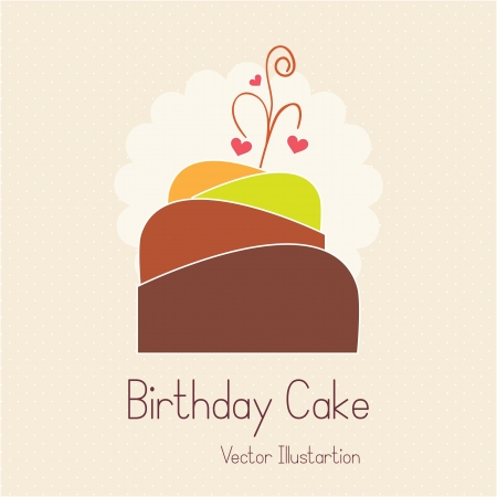 birthday cupcakes: Cake  & Cupcakes icons ( concepts, labels, & cards) Illustration