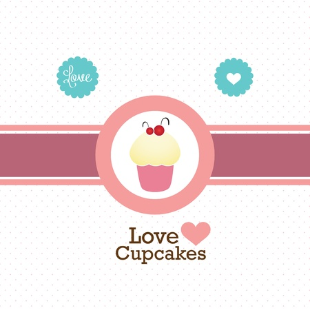 decorated cake: Cake  & Cupcakes icons ( concepts, labels, & cards) Illustration