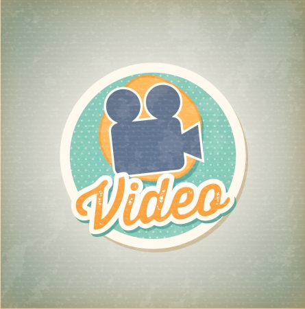 Video camera over vintage background vector illustration Vector