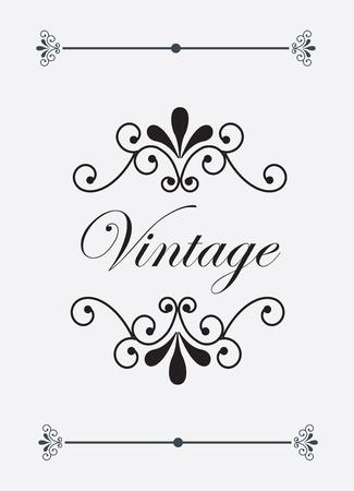 ozdobně: Vintage a ozdoby štítek na bílém pozadí vektorové ilustrace