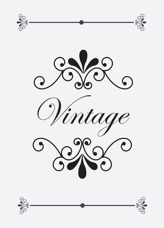Vintage and ornaments label over white background vector illustration  Vector