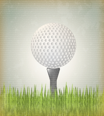 Golf ball over vintage background vector illustration Vector