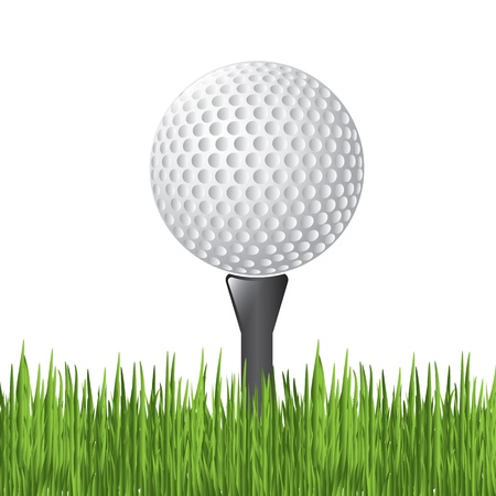 Golf ball over white background vector illustration Vector