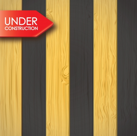 electroshock: Under Construction with  yellow and black background vector illustration Illustration