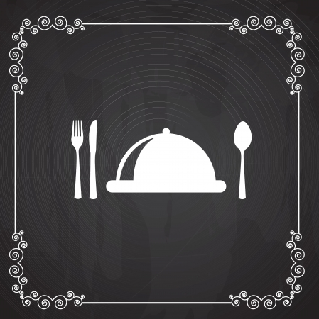Menu icons over black background vector illustration Vector