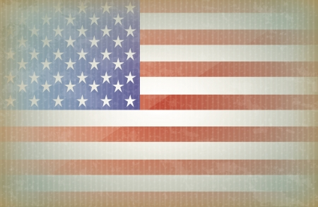 labor strong: Unites states flag vintage background vector illustration Illustration