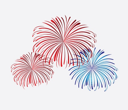 Celebration background with explosion over white background vector illustration Vector