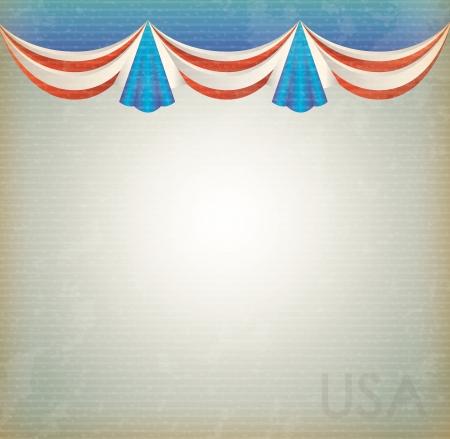 United states celebration background over vintage background vector illustration Vector