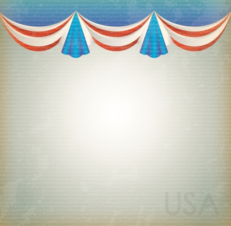 labor strong: United states celebration background over vintage background vector illustration Illustration
