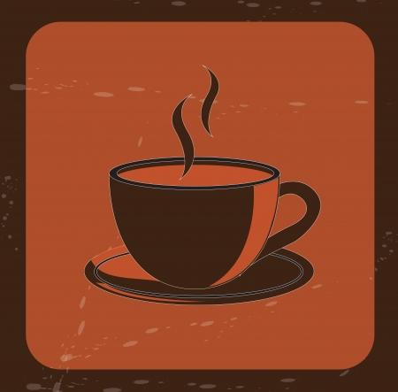 Coffee label over vintage background vector illustration Vector
