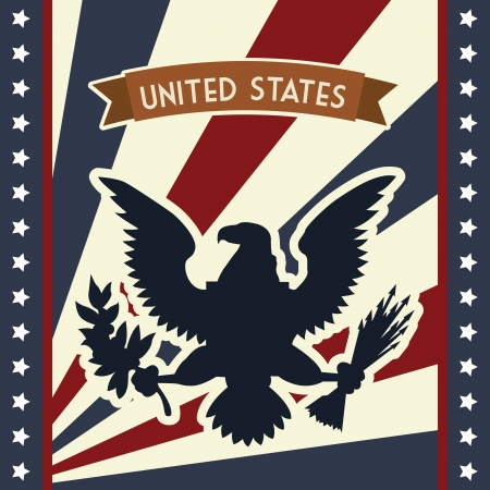 eagle: flag day background, united states. vector illustration Illustration