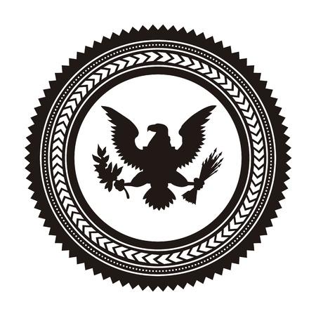 aguila americana: Fondo del d?a de la bandera, los estados unidos. ilustraci?n vectorial