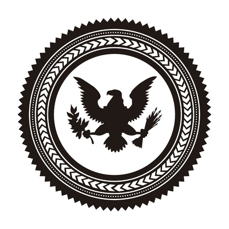 aigle: jour fond de drapeau, les etats unis. illustration vectorielle