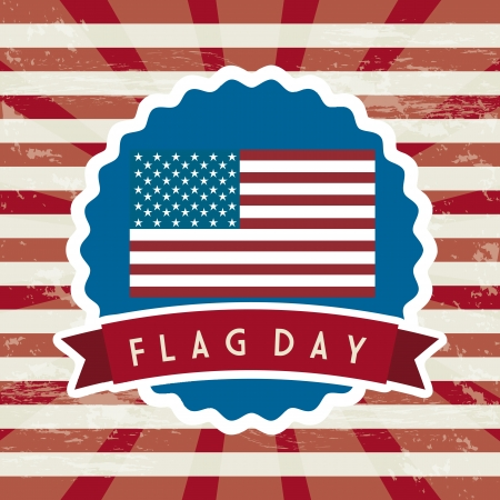 flag day background, united states. vector illustration Stock Vector - 19463612