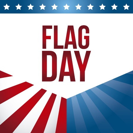 flag day background, united states. vector illustration Illustration