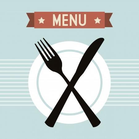 menú del restaurante sobre fondo azul. ilustración vectorial Ilustración de vector