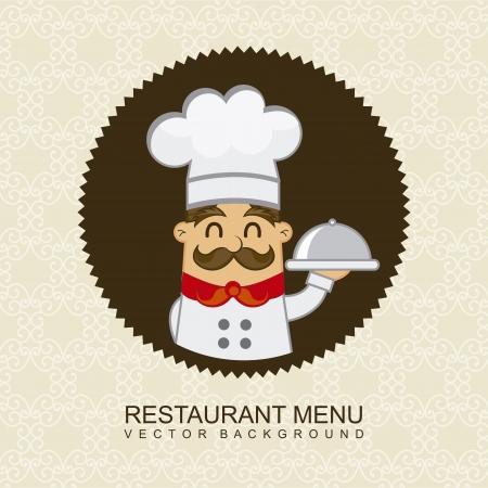 restaurant menu over beige background. vector illustration Vector