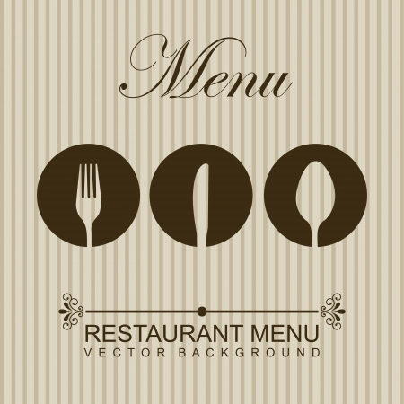 restaurant menu over beige background. vector illustration Vector