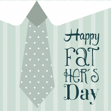 fathers day card over blue background. vector illustration Vector