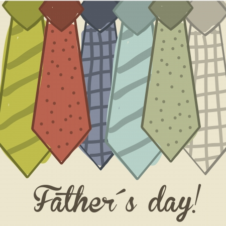 necktie: fathers day card over beige background. vector illustration Illustration