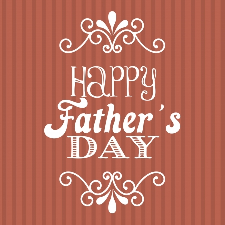 fathers day over red background. vector illustration Stock Vector - 19462710
