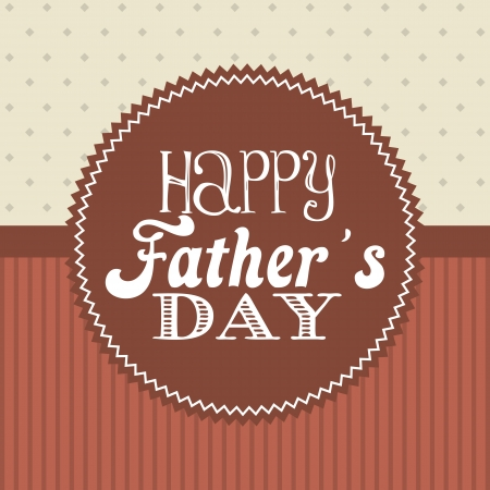 happy fathers day card: fathers day over red background. vector illustration Illustration