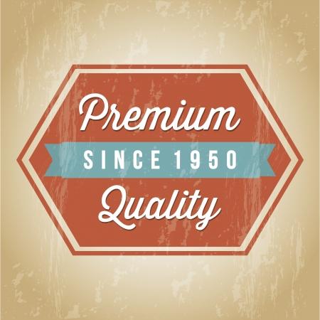 approbation: premium quality over brown background. vector illustration Illustration