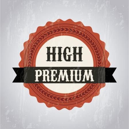 approbation: marchio di qualit� premium su sfondo grigio. illustrazione vettoriale
