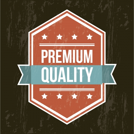 premium quality label over black background. vector illustration Stock Vector - 19463670