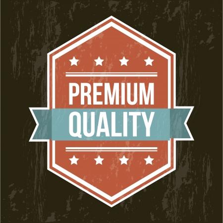 accredit: premium quality label over black background. vector illustration