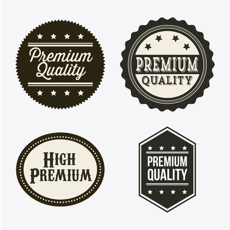 premium quality over gray background. vector illustration Stock Vector - 19463102