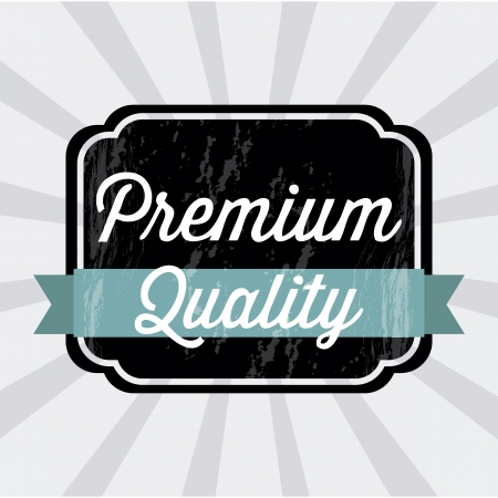 premium quality over gray background. vector illustration Stock Vector - 19463275