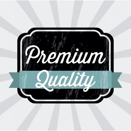 approbation: qualit? premium su sfondo grigio. illustrazione vettoriale