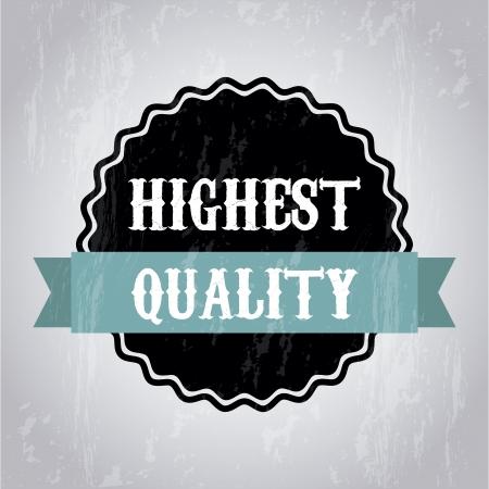 approbation: qualit� highet su sfondo grigio. illustrazione vettoriale Vettoriali