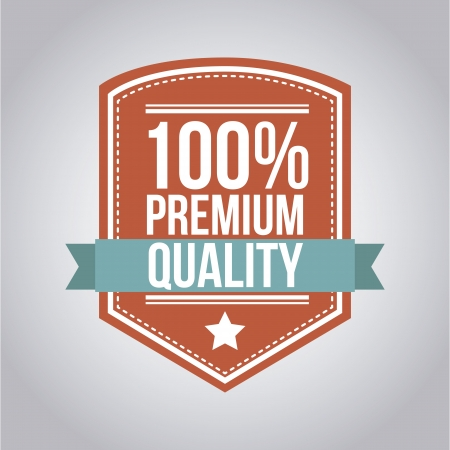 verified stamp: premium quality over gray background. vector illustration