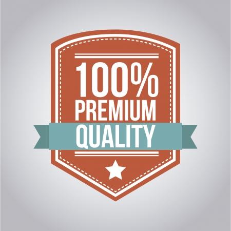 approbation: qualit� premium su sfondo grigio. illustrazione vettoriale