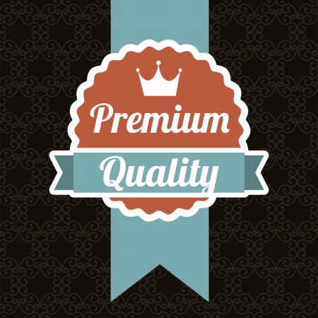 premium quality over black background. vector illustration Stock Vector - 19463273