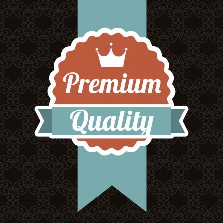 seal of approval: premium quality over black background. vector illustration Illustration