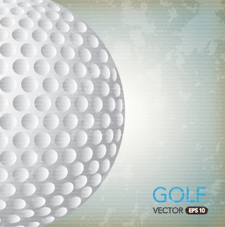 ball golf over vintage background vector illustration Vector