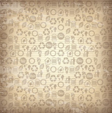 Recycle icons over brown background vector illustration Stock Vector - 19626095